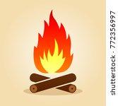 illustration of bonfire in flat ...   Shutterstock .eps vector #772356997