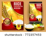 rice packaging  thailand food...   Shutterstock .eps vector #772357453
