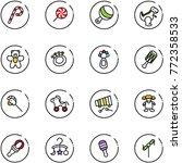 line vector icon set   lollipop ... | Shutterstock .eps vector #772358533