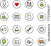 line vector icon set   lock...