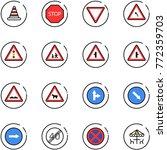 line vector icon set   road... | Shutterstock .eps vector #772359703