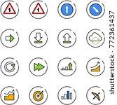 line vector icon set  ... | Shutterstock .eps vector #772361437