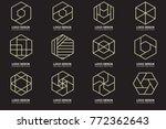 modern minimal vector logo for... | Shutterstock .eps vector #772362643
