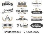 vintage retro vector logo for... | Shutterstock .eps vector #772363027