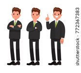 businessman character. vector... | Shutterstock .eps vector #772367383