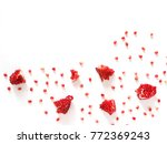 pattern of pomegranate isolated ... | Shutterstock . vector #772369243