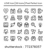 love line icon editable stroke... | Shutterstock .eps vector #772378357