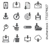 download file icon set | Shutterstock .eps vector #772379827