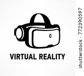 virtual reality glasses icon in ... | Shutterstock .eps vector #772390597