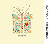 vector picture of gift with... | Shutterstock .eps vector #77239690