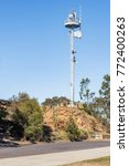antennas on the top of the... | Shutterstock . vector #772400263