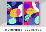 minimal cover design annual... | Shutterstock .eps vector #772407973