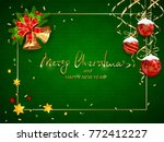 green christmas card with... | Shutterstock .eps vector #772412227