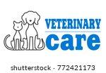 veterinary symbol of pets. | Shutterstock .eps vector #772421173