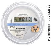 electric meter front view with... | Shutterstock .eps vector #772422613