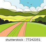summer road | Shutterstock .eps vector #77242351