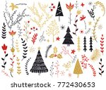 folk collection. flowers...   Shutterstock .eps vector #772430653