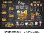vintage chalk drawing burger... | Shutterstock .eps vector #772432303