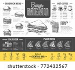 vintage burger menu design.... | Shutterstock .eps vector #772432567