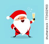 funny santa claus with a glass... | Shutterstock .eps vector #772432903