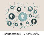 women social media network.... | Shutterstock .eps vector #772433047