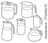vector set of water pitcher | Shutterstock .eps vector #772436173