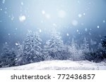 christmas and new year... | Shutterstock . vector #772436857