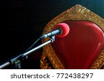 a microphone ready for a... | Shutterstock . vector #772438297