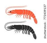 shrimp logo. isolated shrimp on ...   Shutterstock .eps vector #772439137