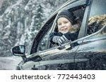 happiness caucasian smilling... | Shutterstock . vector #772443403