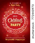 merry christmas party for flyer ... | Shutterstock .eps vector #772443973