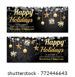greeting card merry christmas... | Shutterstock .eps vector #772446643