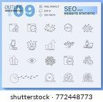 modern linear pictogram of seo... | Shutterstock .eps vector #772448773