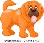 cute chow chow cartoon standing ... | Shutterstock .eps vector #772451713
