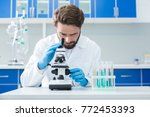 biological research. smart nice ... | Shutterstock . vector #772453393