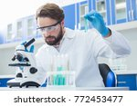scientific project. serious... | Shutterstock . vector #772453477