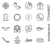 thin line icon set   target ... | Shutterstock .eps vector #772460857