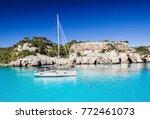 beautiful bay in mediterranean... | Shutterstock . vector #772461073