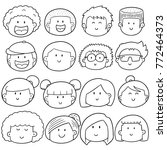 vector set of cartoon face | Shutterstock .eps vector #772464373
