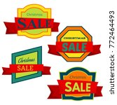 four colorful christmas sale... | Shutterstock .eps vector #772464493