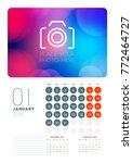 wall calendar planner template... | Shutterstock .eps vector #772464727