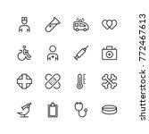pharmacy icon set. collection...