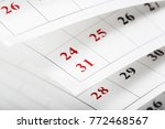 calendar pages close up... | Shutterstock . vector #772468567