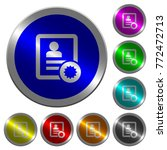 certified contact icons on... | Shutterstock .eps vector #772472713