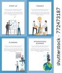 startup planning finance... | Shutterstock .eps vector #772473187