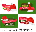 set of christmas holiday sale... | Shutterstock .eps vector #772474513