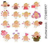 collection of angels or cupids... | Shutterstock .eps vector #772485997