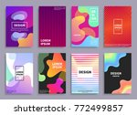 creative design covers set with ... | Shutterstock .eps vector #772499857