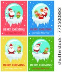 happy new year merry christmas... | Shutterstock .eps vector #772500883
