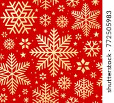 seamless christmas pattern  | Shutterstock .eps vector #772505983